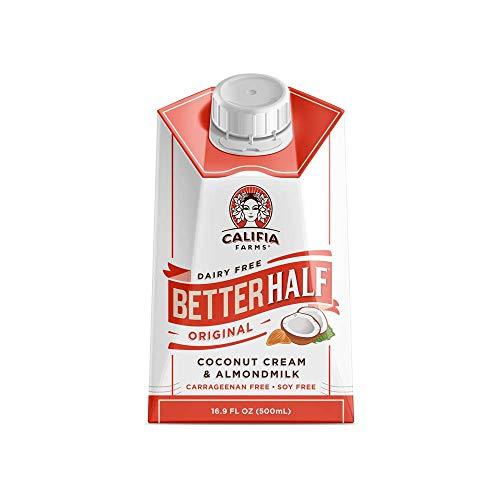 Califia Farms Original Better Half Coffee Creamer, 16.9 Oz (Pack of 6) | Coconut Cream and Almondmilk | Half & Half | Dairy Free | Plant Based | Nut Milk | Vegan | Non-GMO