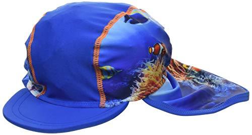 Playshoes Jungen UV-Schutz Mütze Unterwasserwelt Sonnenhut, Blau, 49cm
