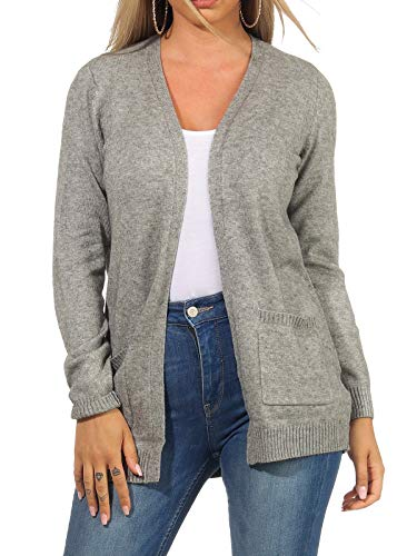 Only ONLLESLY L/S Open Cardigan KNT Noos Suter crdigan, Color Gris, L para Mujer