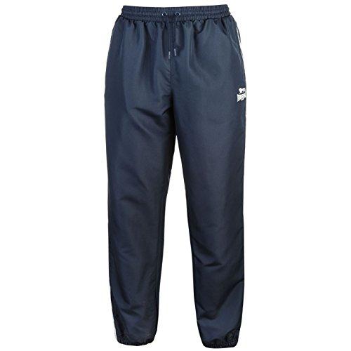 Lonsdale Hombre 2 Stripe Pantalones Deportivos De Chándal Azul Marino/Blanco M