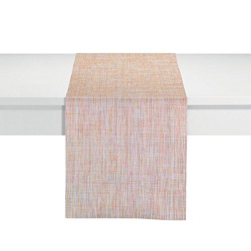 Winkler – Chemin de table Lina – 45x150 cm – Tissu lavable – Décoration pour meuble TV, table basse, banquets, fêtes – Couleur mandarine/multicolore