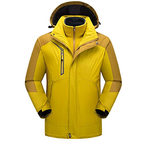 Koupany herfst en winter heren outdoor bergsport pak skipak waterdicht ademend warm herfst en winter jas jas geel