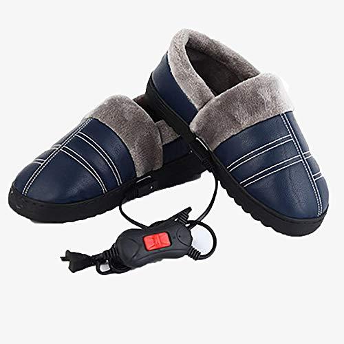 BDN calefactadas Zapatillas,Caminar en Invierno, Zapatos eléctricos Calientes, Zapatos eléctricos de algodón...