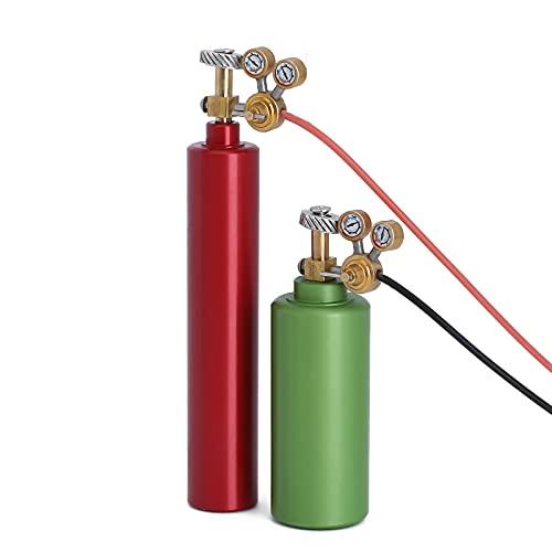 INJORA RC Decoración 2pcs Mini Botellas de Nitrógeno de Metal RC Accesorios para 1:10 RC Crawler Axial SCX10 90046 TRX4 (Rojo y Verde)