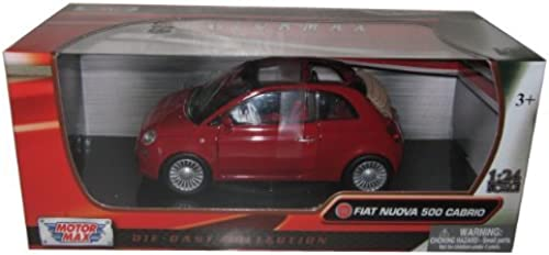 Fiat 500 Nuova Cabrio rot 1 24 by Motormax 73374 by Motormax