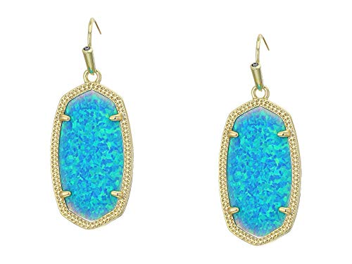 Kendra Scott Dani Drop Earrings for Women, Fashion Jewelry, 14k Gold-Plated, Turquoise Opal