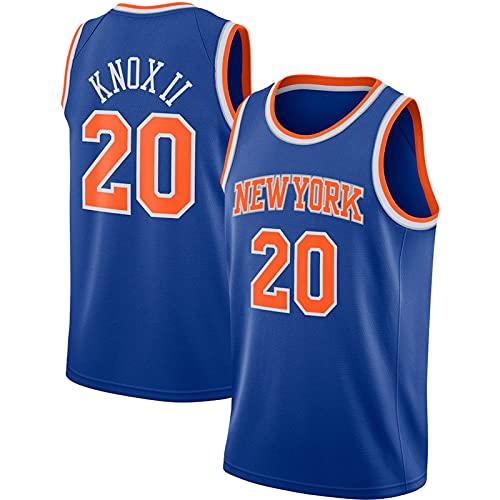 YDJY Knox II - Camiseta de baloncesto al aire libre Knick de secado rápido para hombre # 20 azul ropa deportiva