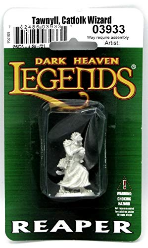 Reaper Miniatures Tawnyll, Catfolk Wizard #03933 Dark Heaven Unpainted Metal