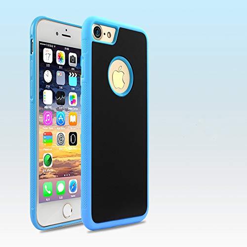 Cekell Funda para teléfono Anti Gravedad para iPhone XS MAX XR X 8 7 6 6S Plus S 12 Funda para Samsung Galaxy S8 S9 Plus S9 Note 8 9(Azul)