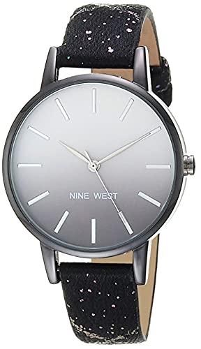 reloj negro mujer fabricante Nine West