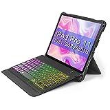 Inateck Tastatur Hülle für iPad Pro 11 Zoll 2021/2020/2018(1und2und3 Generation), abnehmbare Tastatur mit DIY Hintergr&beleuchtung, QWERTZ, KB02005