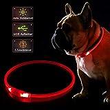 KABB LED Hundehalsband, USB Wiederaufladbares...