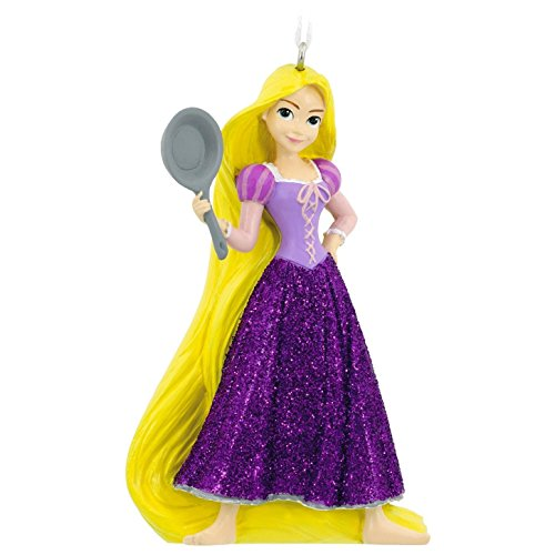 Rapunzel Tangled Fierce With a Frying Pan Disney Hallmark Christmas Ornament