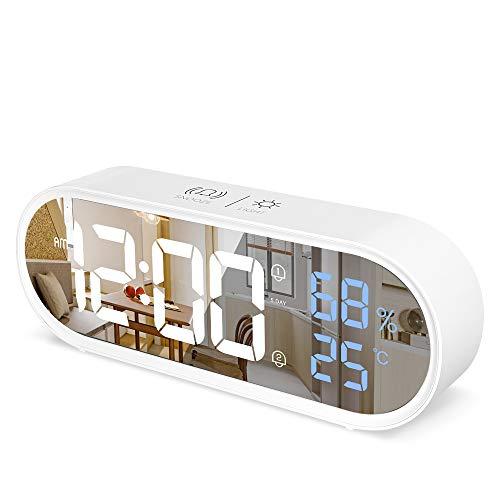 Despertador Digital Casio Blanco Marca Eleglide