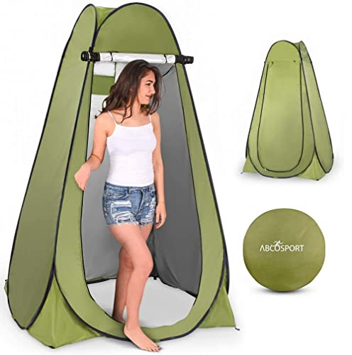 Pop Up Privacy Tent – Instant Portable Outdoor Shower Tent, Camp Toilet, Changing Room Pod, Rain Shelter with Window – Camping and Beach – Easy Set Up, Foldable with Carry Bag – Lightweight and Sturdy