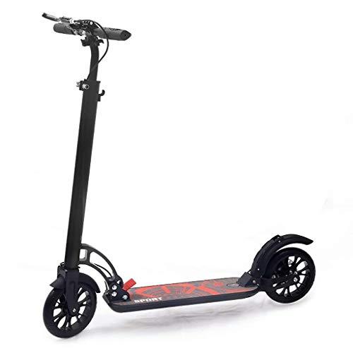 HJPWRL-HuaBanChe Scooter, Kinder Scooter Stunt, Erwachsene, Teenager, Faltbare Zweirad-Roller, 2 PU-Räder, Aluminium-Gehäuse, Höhenverstellbar, Laden 100kg