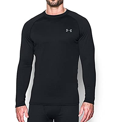 Under Armour Men's Base 4.0 Crew, Black (001)/Steel, Large
