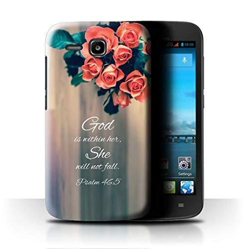 Hülle Für Huawei Ascend Y600 Christliche Bibel Vers God Within Her/Psalm Design Transparent Ultra Dünn Klar Hart Schutz Handyhülle Case