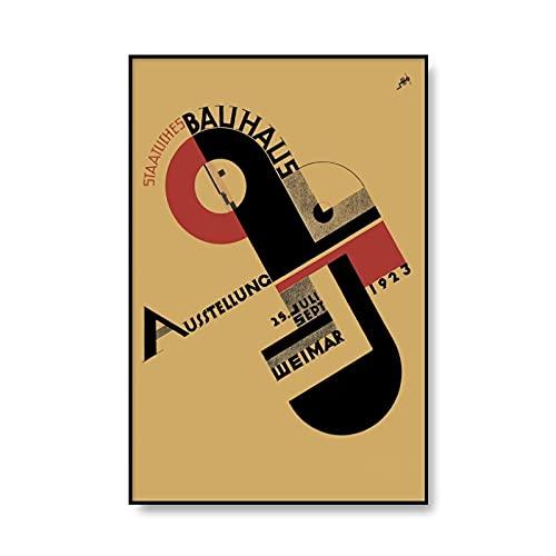 Impresión de arte abstracto Bauhaus minimalismo moderno 1923 exposición de Weimar póster cuadro sin marco lienzo pintura A5 60x90cm
