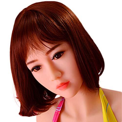 Adult Semi-Solid Doll für Männer-Shock Aussprache + Solid Chest + Heizband Haare + Zuggabel Induktion + Sprachgespräch + Mund saugen 6/7 Kanäle + Vr Brille-B