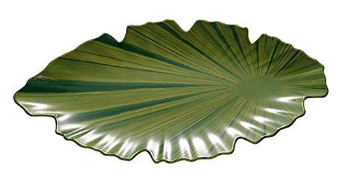 APS–Fuente con Forma de Hoja, melamina, Verde, 40x 18,5cm, h: 3,5cm