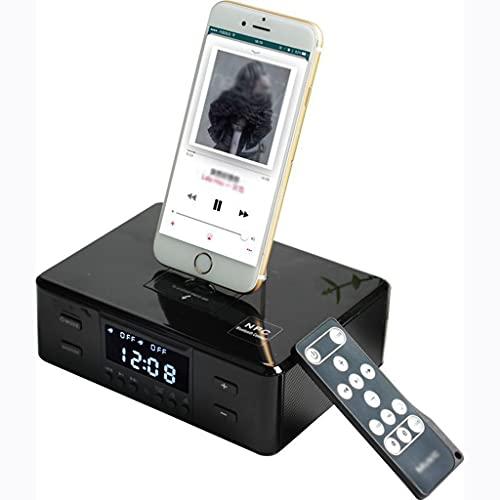 despertador cargador inalámbrico Reloj Despertador de Carga Inalámbrica Radio Bocina Bluetooth Estación Teléfono Estación de Carga Control Remoto Puerto USB Audio Auxiliar Reproducción de Disco U NFC