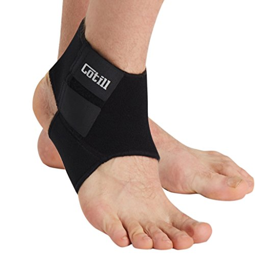 Cotill Ankle Support for Men and Women - Neoprene Breathable Adjustable Ankle Brace Sprain for Running, Basketball (Medium)