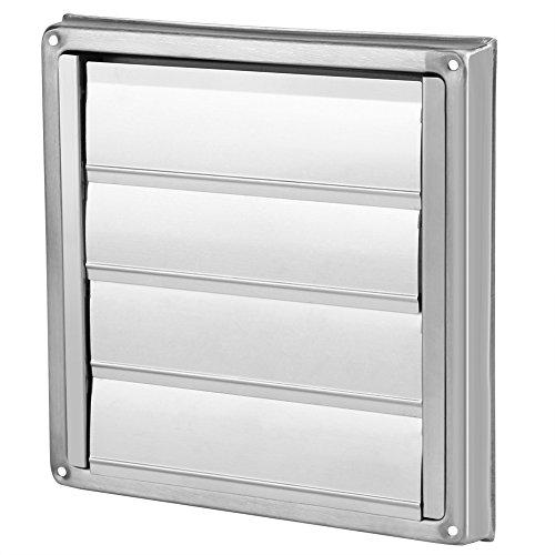 Rejilla de ventilación de acero inoxidable, Rejilla de ventilación de aire de secado de pared de techo de ventilación de pared con láminas móviles tipo persiana 100 mm de diámetro