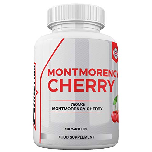 Montmorency Cherry   Cherry Extract 1500mg Per Serving   180 Capsules   High Strength Montmorency Cherries