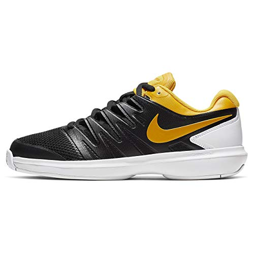 Nike Air Zoom Prestige HC, Scarpe da Tennis Uomo, Multicolore (Black/University Gold/White 3), 42.5 EU