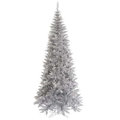 Vickerman Silver Tinsel Fir Christmas Tree