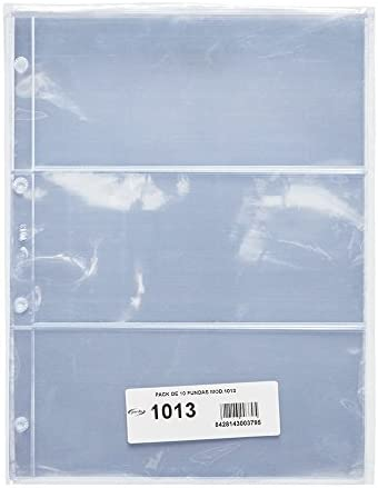 Pardo 101300 - Pack de 10 fundas para colección variada, 3 alojamientos: Amazon.es: Oficina y papelería