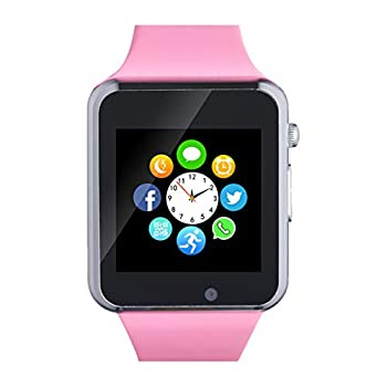 Smartwatch Smart Watch with SIM Card Slot Text Call Reminder Camera Music Player Pedometer Compatible with Android Samsung and iPhone Partial Functions  for Men Women Kids