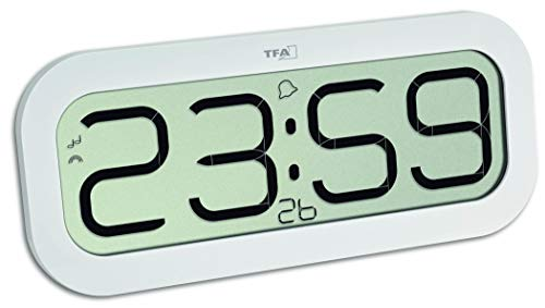 TFA Dostmann Bim Bam Funk-Wanduhr mit Stundenschlag, 60.4514.02, Funkuhr, mit Stundenschlag, weiß