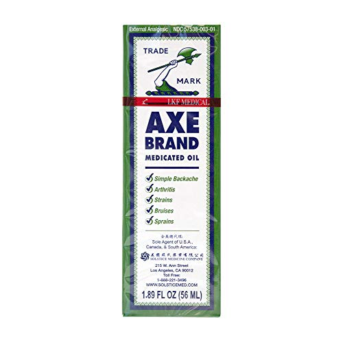 Axe Brand Medicated Oil (Muscle, Joint, and Backache Pain Relief) (1.89 fl oz) (1 Bottle) (Solstice)