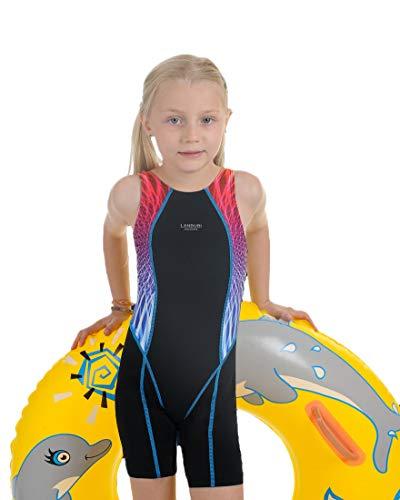 VERTAST Mädchen athletische konkurrenzfähige Badeanzüge Racerback Legsuit Badebekleidung für Alter 4-15, Blau, 150cm/12~14 Jahre