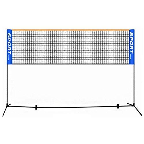 IDE Play Im Freien beweglichen Faltbare Badminton Tennisnetz Adjustable Volleyball-Netz mit Ständern Stangen, stufenlos höhenverstellbar von 0.75m bis 1.55m,4M
