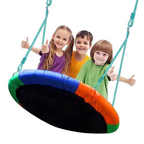 BLUE ISLAND Tree Swing-Children s Outdoor Large Size 40  Diameter Durable Swing-Easy Installation