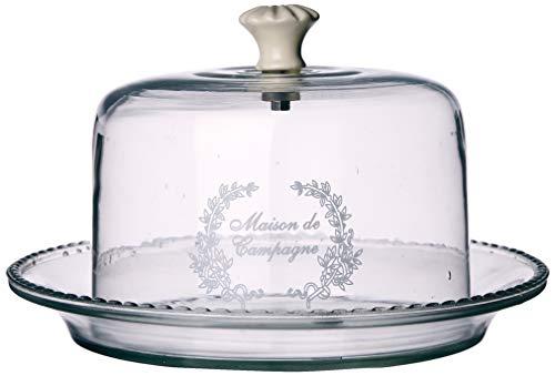 Better & Best Pñ Quesera de cristal Maison de Campagne, redonda, pequeña, color transparente, medidas 23x23x12,5 cm