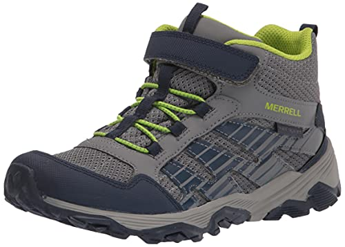 Merrell unisex child Moab Voyager Mid Alternative Closure Hiking Shoe, Grey/Navy, 13 Big Kid US