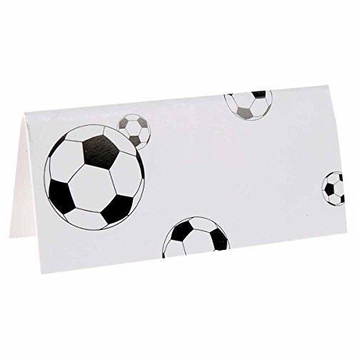 10 segnaposto in cartone pallone di calcio Taglia Unica