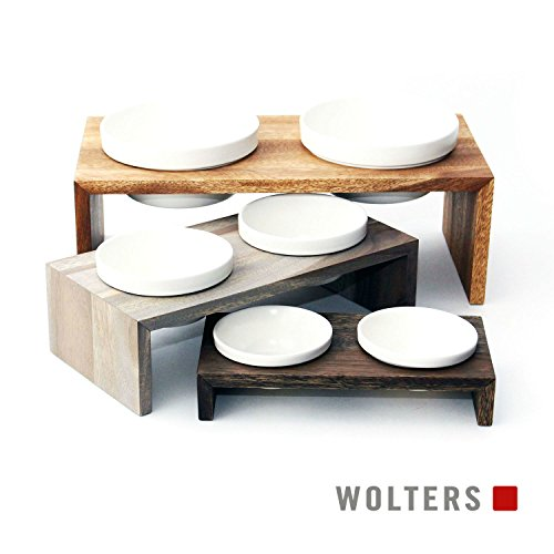 Wolters | Doppelnapf Gohan schiefer | 0,4 l
