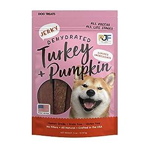 Pet Jerky Factory Premium Dog Treats | 100% Human Grade | Made in the USA | Grain Free | Turkey and Pumpkin, 5 oz.