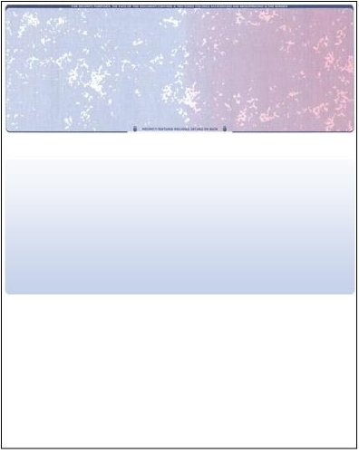 100 Blank Check Stock - Check on Top - Blue/Red Prismatic -