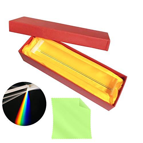 INHEMI Kristall Optisches Glas Dreieckiger Prismen,Refraktor Kristallprisma zum Unterrichten von Lichtspektrum Physik, Licht Prisma Kristall, Glas Prisma und Prisma Fotografie mit Geschenkbox