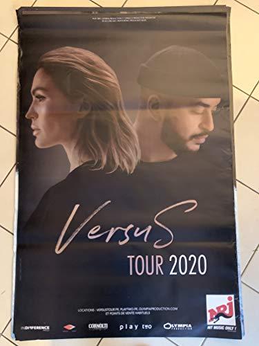 AFFICHE / Versus - Vitaa/Slimane - Tour 2020-80x120cm Poster