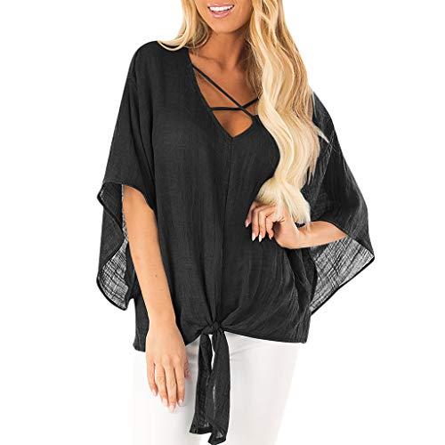 Amphia Damen Kaftan Kimono,Frauen Sommer Kurzarm Fledermaus Ärmel vertuschen Bluse Casual T-Shirt Tops