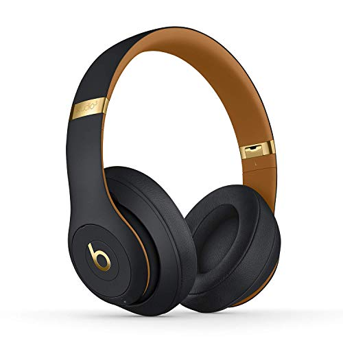 Beats Studio3 Wireless Noise Cancelling Over-Ear Headphones - Apple W1 Headphone Chip, Class 1 Bluetooth, 22 Hours of Listening Time, Built-in Microphone - Midnight Black (Latest Model) (Renewed)