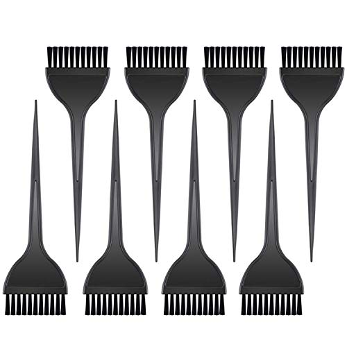 Hulless 8 Pcs Hair Dye Brushes Color Tint Applicator for Salon Use Home DIY Dyeing, Black