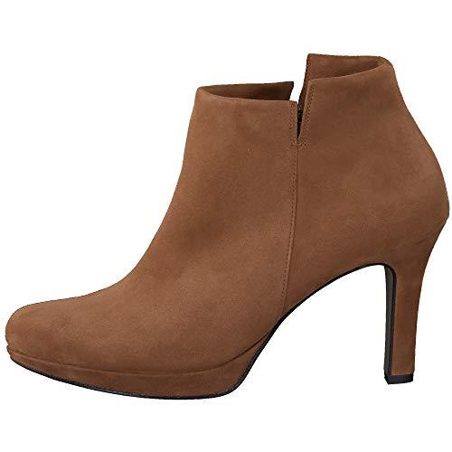 Paul Green Damen Super Soft Stiefelette, Frauen Ankle Boots, Stiefel halbstiefel Bootie knöchelhoch reißverschluss weiblich,Braun,6 UK / 39 EU